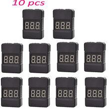 10pcs BX100 1-8S Lipo Battery Voltage Tester Low Voltage Buzzer Alarm Dual Speak