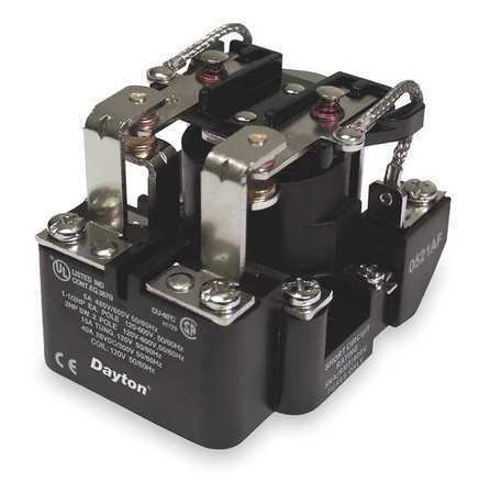 DAYTON 5X847 Open Power Relay,8 Pin,120VAC,DPDT