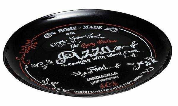 6xRitzenhoff & Breker Pizzateller schwarz, aus Glas, schwarz