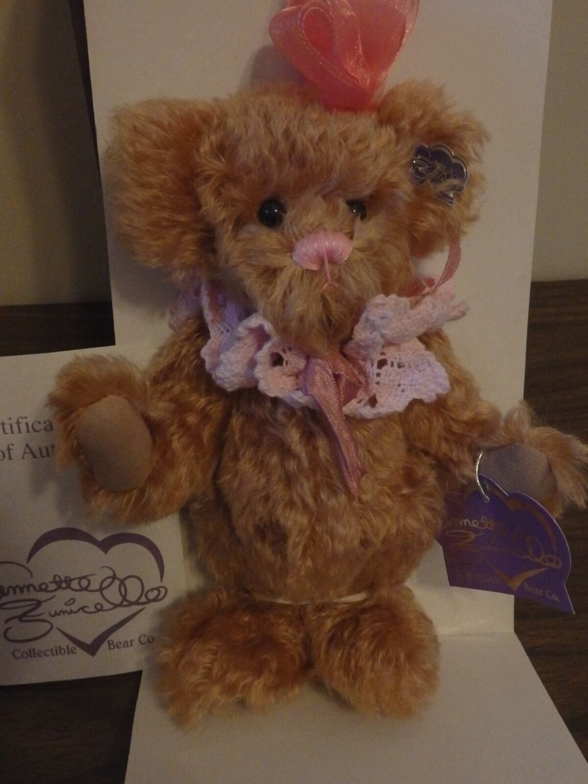 Annette Funicello Mohair Bear Cindy Lou  489 of 3000  NIB  Never Displayed