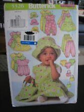 Butterick Sewing Pattern B5624 Baby Jumper Dress Romper Jumpsuit Panties Pants Hat Bag Toddler Sizes L XL Infant Summer Clothes Gift UNCUT