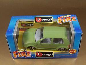 PI3-40-BBURAGO-BURAGO-1-43-STREET-FIRE-41301-VOLKSWAGEN-GOLF-VERDE-NIB