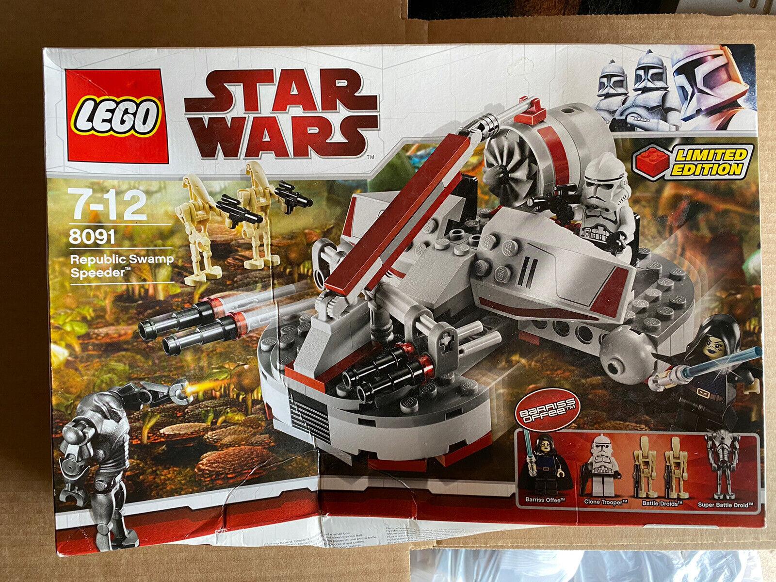 LEGO 8091 STAR WARS REPUBLIC SWAMP SPEEDER Brand New in Box