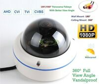 Ahd 2mp Hd 1080p Outdoor Vandal Dome Camera 180/360 Degree View Security Camera