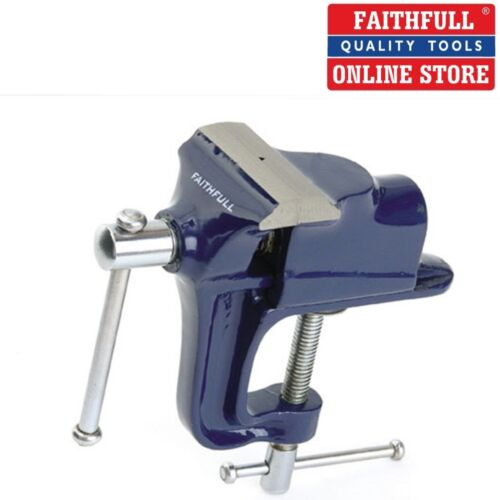 """FAITHFULL FAIV60 2.1//2/"""" PORTABLE WITH INTEGRATED BENCH CLAMP HOBBY VICE 60mm"""