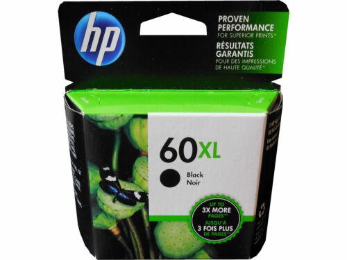 Genuine HP 60XL Black Printer Ink Cartridge CC641WN Retail Box