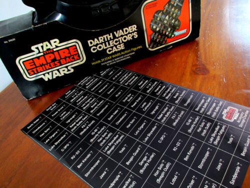 REPLACEMENT STICKERS for STAR WARS VINTAGE 1980 ESB DARTH VADER COLLECTOR/'S CASE