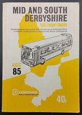 August 1985 Derbyshire Public Transport Timetable - Bus, Coach & Rail