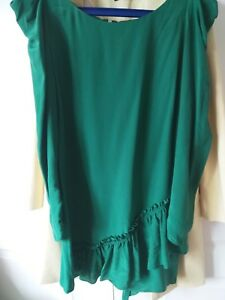 Oasis-green-silk-dress