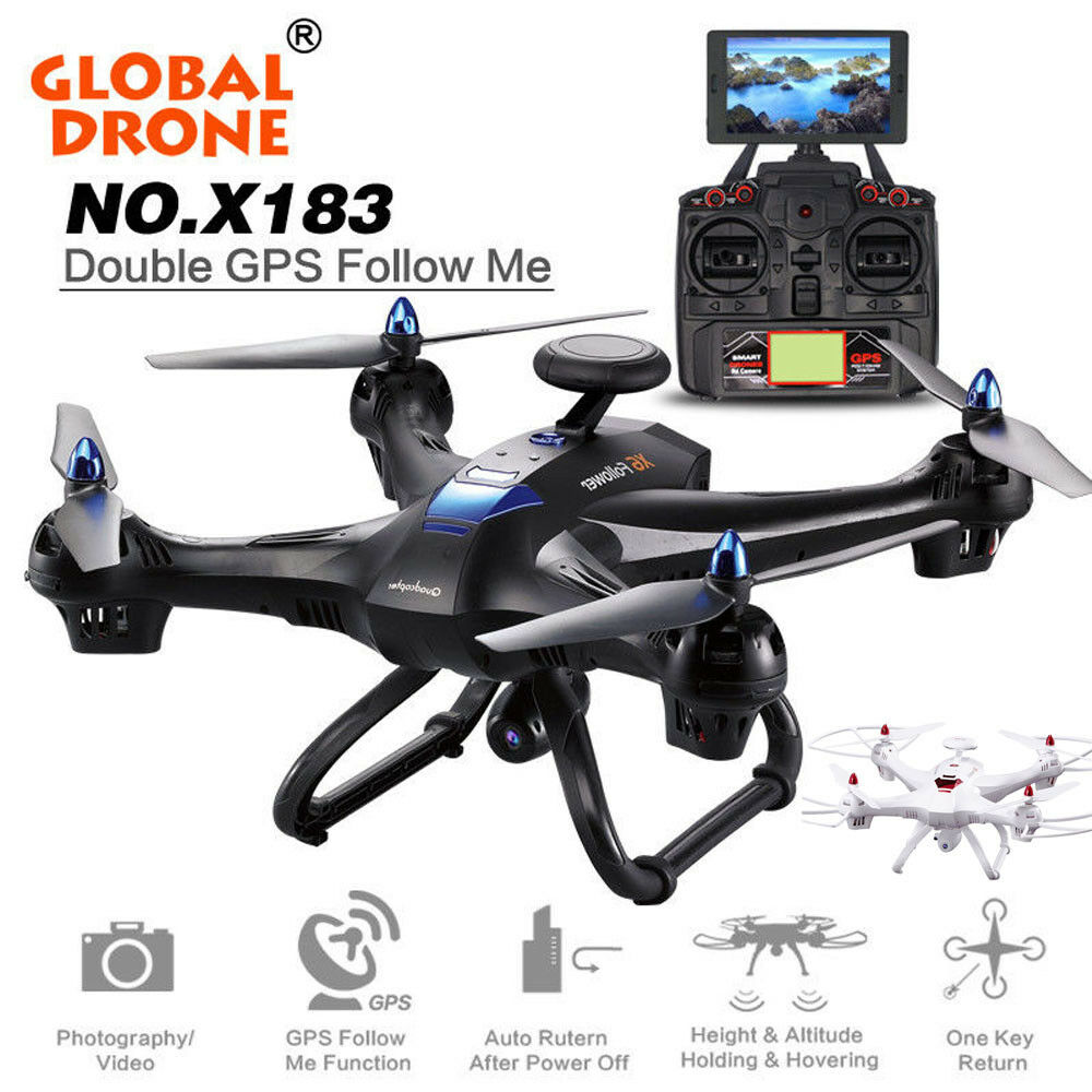 Global DRON 6-axis x183 Wifi FPV 1080p Cámara HD Doble GPS sin escobillas