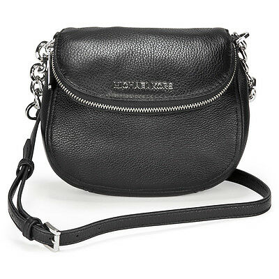 Michael Kors Bedford Flap Small Leather Crossbody Bag - Black