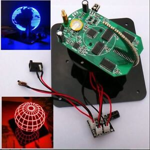 Spherical-Rotation-LED-Kit-56-POV-Rotating-clock-parts-TTL-Serial-Downloader
