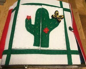 Quiet-book-libro-tattile-educativo-Montessori-in-stoffa-feltro-pannolenci-Cactus