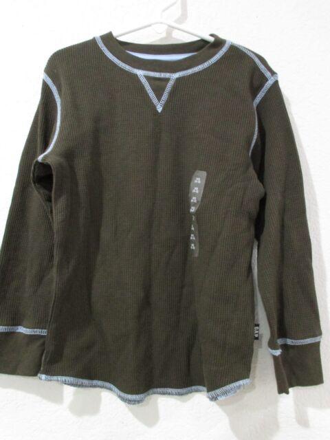 GAP KIDS Boys Brown Blue Long Sleeve Thermal Shirt Size XS 4-5