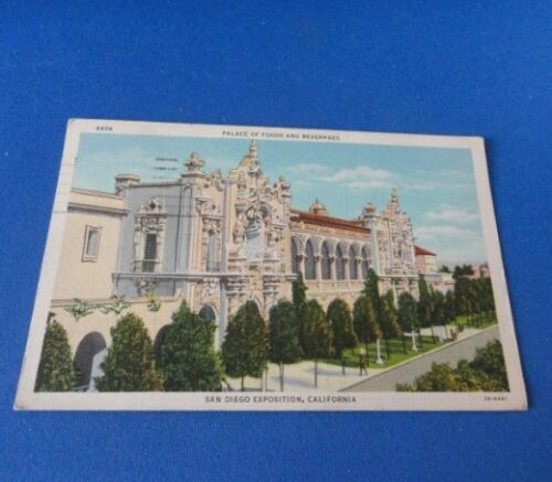 1 Antique Post Cards San Diego Exposition, CA Palace of Food & Beverages