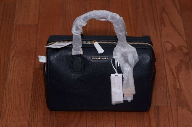 30c7ba5115d9 NWT Michael Kors  298 Studio Mercer Medium Duffle Handbag Purse Admiral Navy
