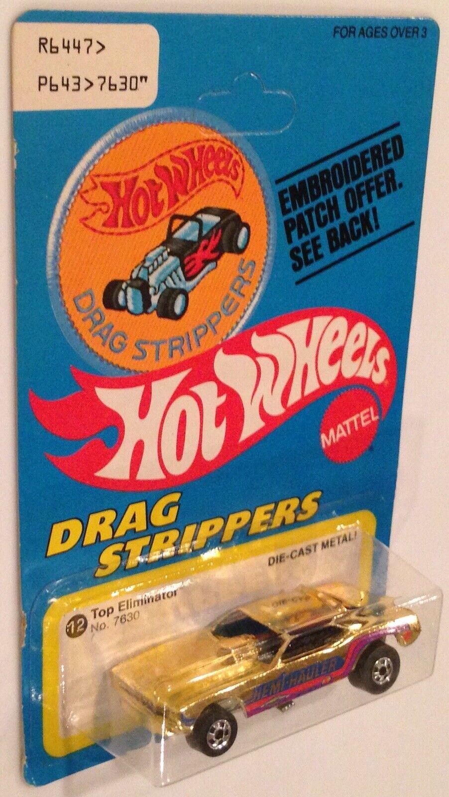 En parfait état, dans son carton d'origine 1978 HOT WHEELS drag strip-teaseuses ultra rare patch Carte or Top Eliminator