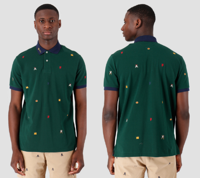 $125 Men Polo Ralph Lauren Tie Dye Pony Mesh Rugby Classic Fit Shirt LT XLT Tall