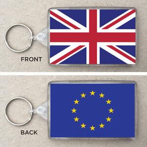 Union-Jack-amp-EU-Flag-Large-Keyring-amp-Bag-Tag-Brexit-UK-European-Union