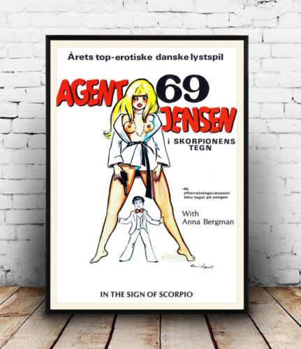 Old Film Advertising poster reproduction Agent 69 Jensen