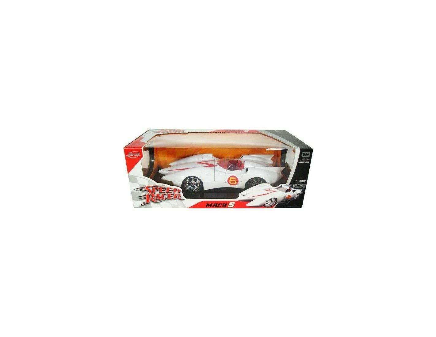 Jada JADA91879 SPEED RACER MACH 5 blanc 1 18 Modellino