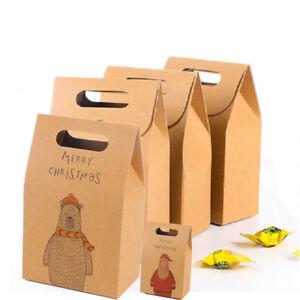 10pcs-chaud-de-Noel-Sacs-cadeaux-papier-Bonbonniere-pour-soiree-de-mariage-Favor