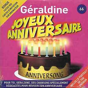 Joyeux Anniversaire Geraldine 10 Titres Ebay