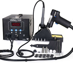 948 80W Soldering Iron Vacuum Suction Desoldering 2-in-1 Rework Station ESD Safe