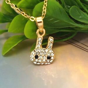 Cute Bunny Pet Head New Rose Gold Jewelry Austrian Crystal