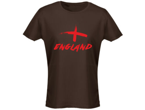 12 Colours England Painted Womens Football Rugby T-Shirt