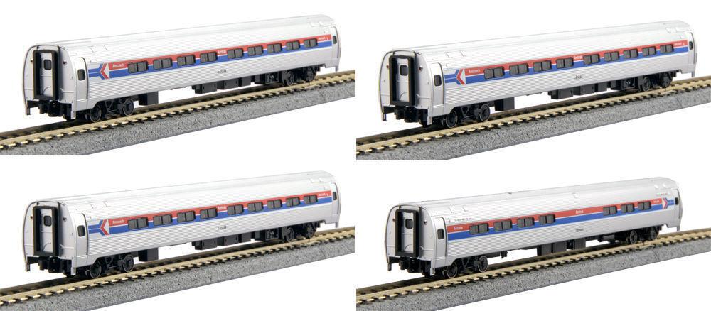 Escala N Amfleet me Amtrak Fase I pintura 4 Coche Set-Kato  106-8011
