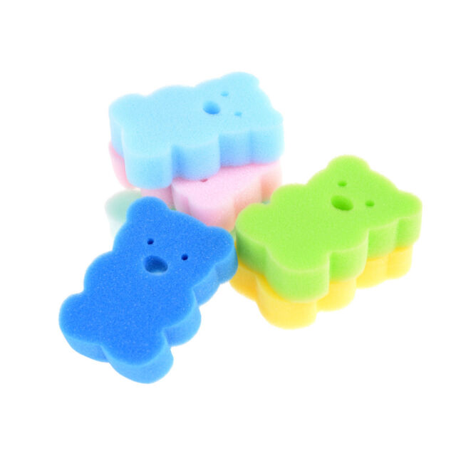 3pcs Baby Kids Newborn Bath Brush Soft Pure Cotton Bath Foam Rub ...