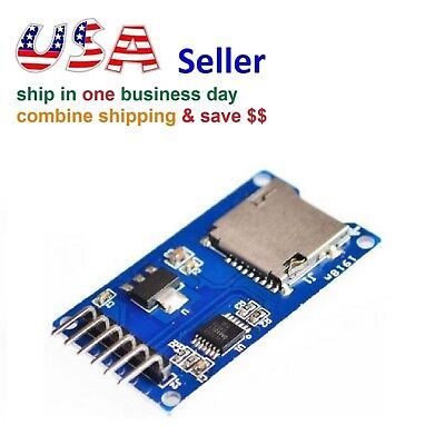 2pc Micro SD TF Card Reader Read Module Storage Memory Shield For Arduino SPI