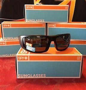 152f723e13b Brand New Spy Optic Tackle Sunglasses Matte Black Happy Grey Green ...