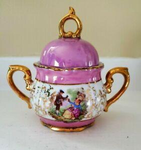 Original Arnart Creation Japan Porcelain Decorative Vase Bowl Lid