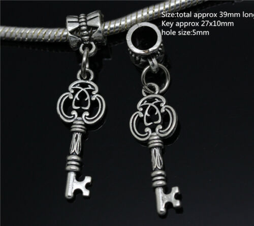 Lots 6X Antique Silver Bulk Dangle European Fashion Bracelet DIY Charm Jewelry