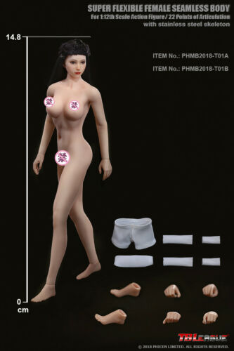 TBLeague PHMB2018 1:12 Female Body Model Super-Flexible Suntan Skin Seamless Toy
