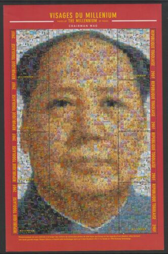 Togo 2000, Millenium of Chairman Mao Collage of Photo Mosaics MNH