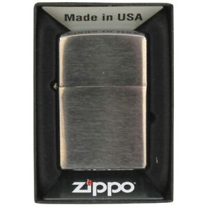 Mfh-Lighter-Windproof-Zippo-Brushed-Chrome-Doesn-039-T-Filled