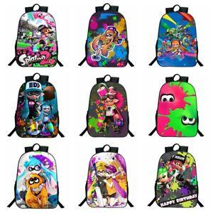 4b72a5c08f3b Image is loading Splatoon-2-3D-Printed-Children-Travel-School-Backpacks-