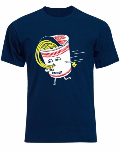 Noodles Cup Late For Work Pasta Spaghetti Yummy Mens Tshirt Tee Top AL80