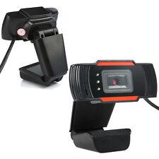 USB 2.0 3 LED 12.0 MP Webcam Camera w/ Mic for Desktop PC Laptop Computer Skype