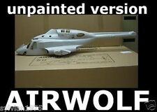 Airwolf 600 Size Unpainted Funkey Scale Fuselage Kit + retract Landing Gear NIB