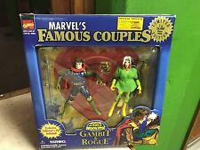 1997 Toy Biz Marvel's Famous Couples X-Men Gambit & Rogue Figure Set MIB