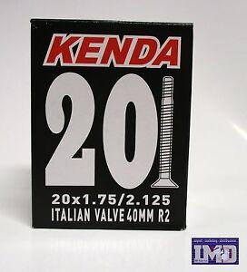 Coppia-camera-d-039-aria-KENDA-20-x-1-75-2-125-valvola-italiana-per-bicicletta-MTB