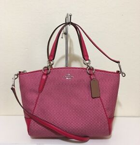 32149a2b17b76 Image is loading Coach-F57244-Small-Kelsey-Satchel-In-Legacy-Jacquard-