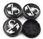 Scorpion Abarth Logo Nabenkappe Radkappe für Fiat 4 x 50mm schwarz emblem