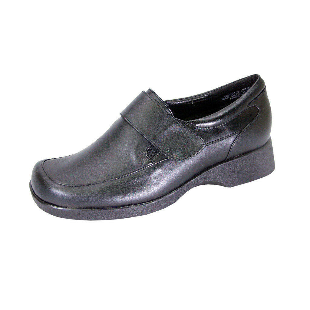 24 HOUR COMFORT Gail Width Women Wide Width Gail Durable Cushioned Leather Slip On Shoes 4b1cf3