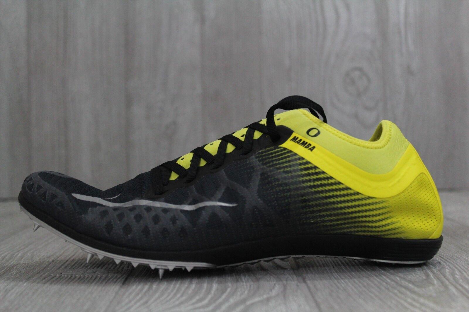 32 Nike Zoom Mamba 3 Oregon Ducks Track Spikes Nero Yellow 920762-007 Uomo 10