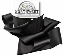 Double Faced Satin Ribbon 3 inches wide ~ Black ~ 5 Yards ~ Washable